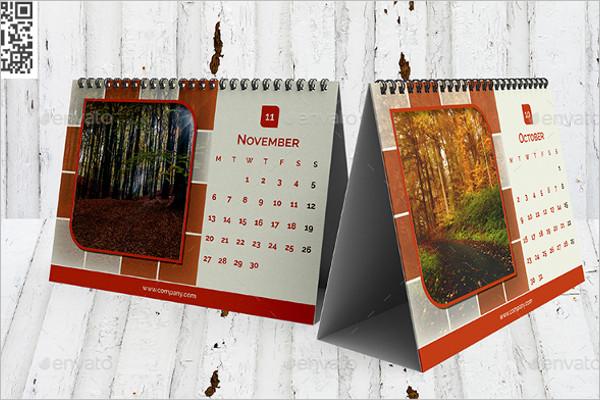 Desktop Calendar 2017 Template