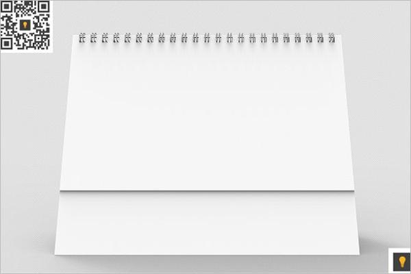 Desktop Calendar 3D Render Template