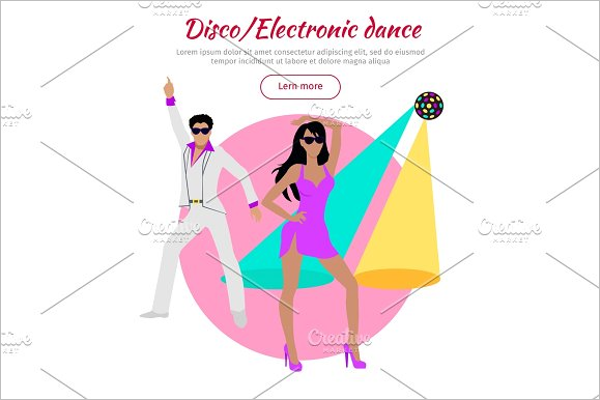 Disco Dance Banner Template