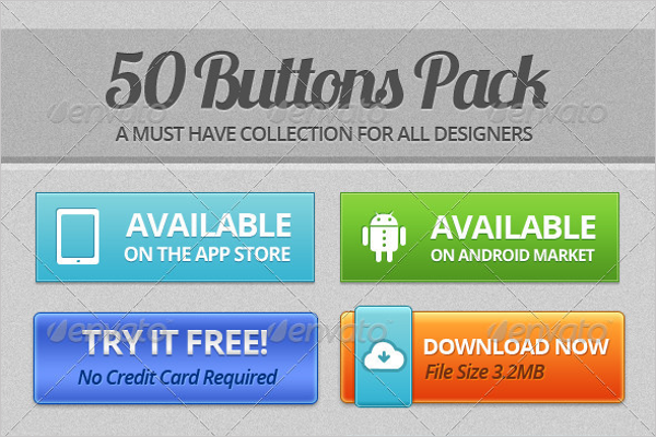 Download Buttons Pack Template