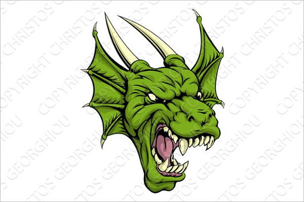 Dragon Illustration Tattoo Design