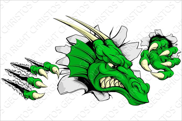 Dragon Ripping Tattoo Design