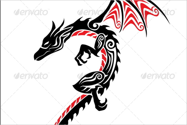 Dragon Tattoo PSD Design