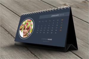 Editable Desk Calendar Template