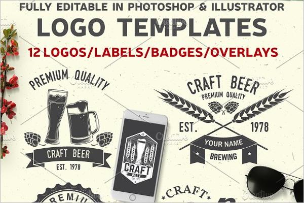 Editable Hotel Label Design