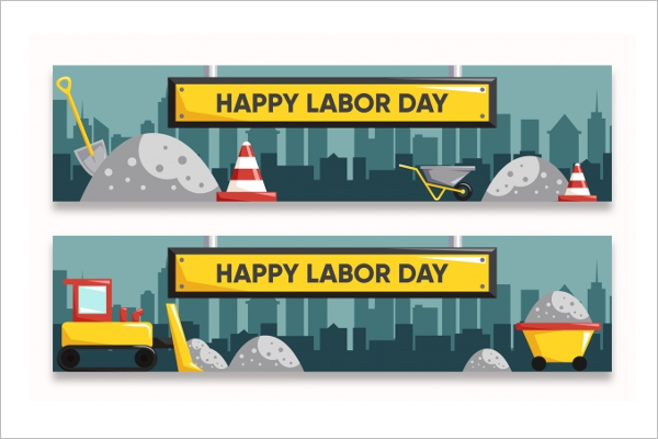 Editable Labor Day Banner Template