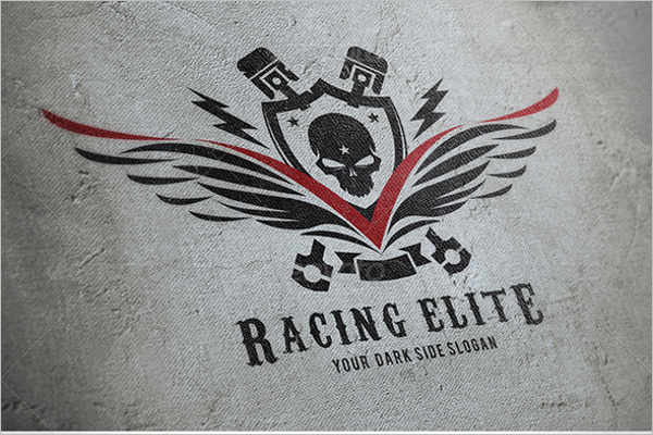 Editable Motorcycle Logo Design