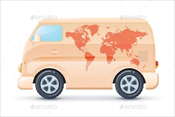 Editable Vector Bus Illustration