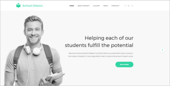 Education E learning Website Template