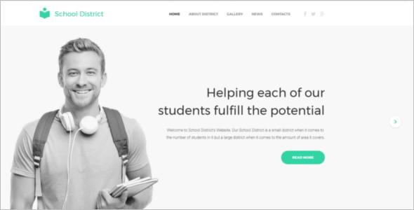 Education E learning Website Template
