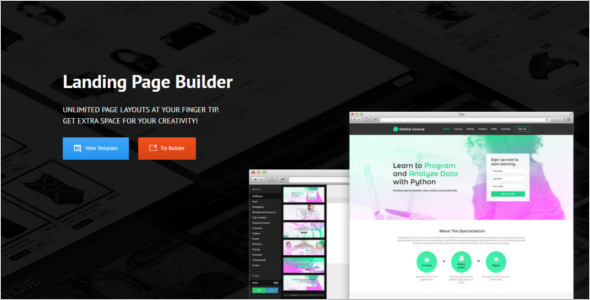 Education Landing Page Layout Template