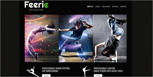 Elegant Dance School WordPress Theme
