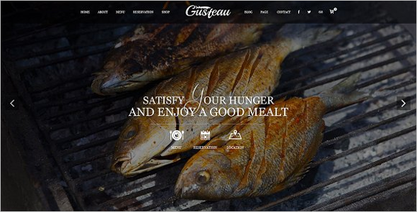 Elegant Food Recipe WordPress Theme