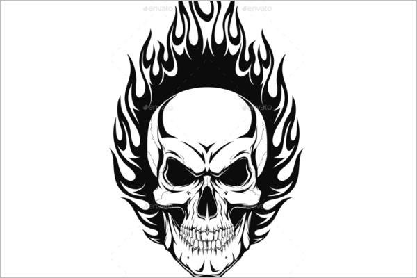 Elegant Human Skull Vector Design