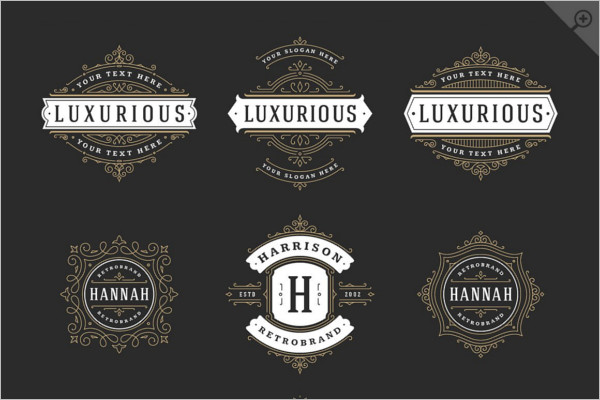 Elegant Typography Badge Template