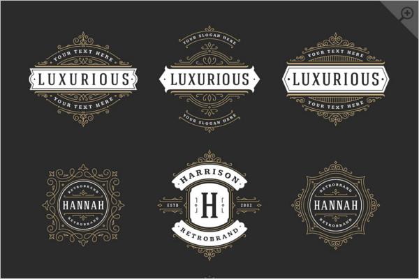 Elegant Typography Badge Template
