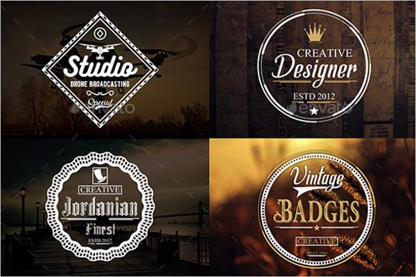 Element Typography Badge Template