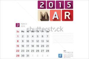 Event Calendar Vector Template
