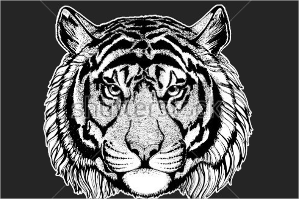 Exciting Tiger Tattoo Design