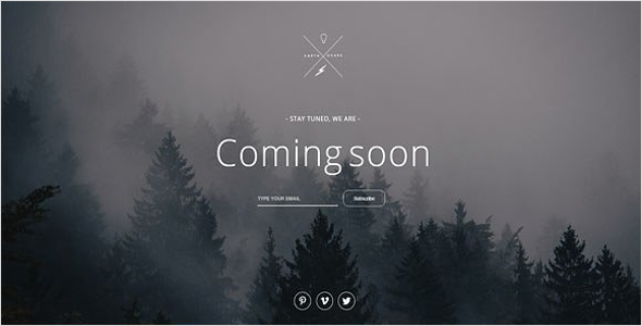 Eye Catching Website Coming Soon Theme