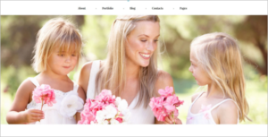 Family Photographer WordPress Theme