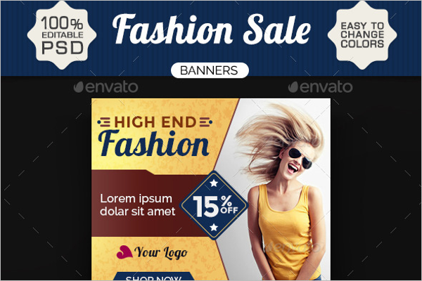 Fashion Banner Design Template