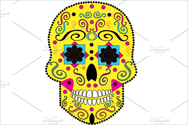 Fashion Skull Tattoo Design