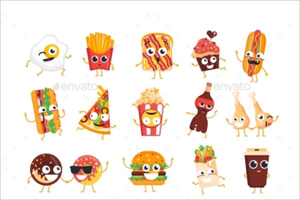 Fast Food Dog Cartoon Template