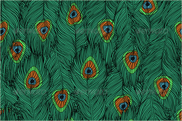 Feathers Pattern for Peacock