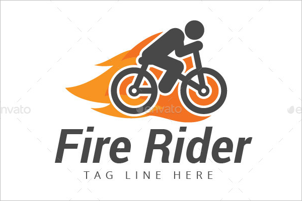 Fire Rider Logo Design