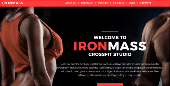 Fitness Body Building HTML 5 Template