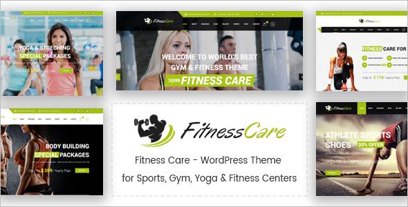 Fitness Care WordPress Theme