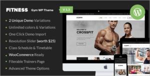 Fitness Centre WordPress Theme