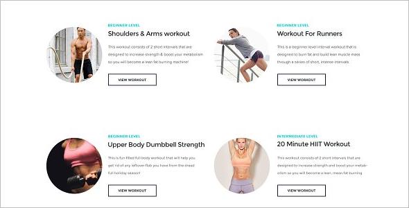 Fitness Exercise WordPress Theme