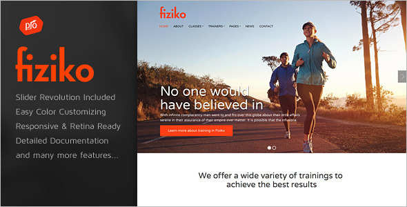 Fitness GYM HTML 5 Template