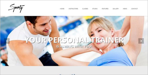 Fitness GYM WordPress Template