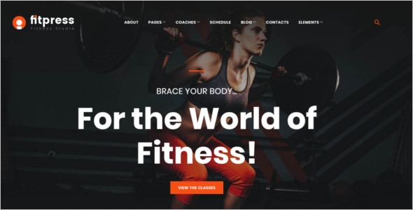 Fitness HTML 5 Design Template