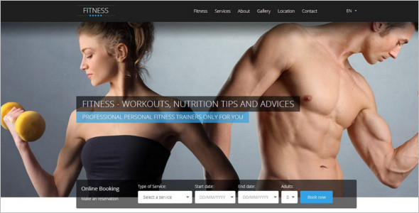 Fitness HTML 5 PSD Template