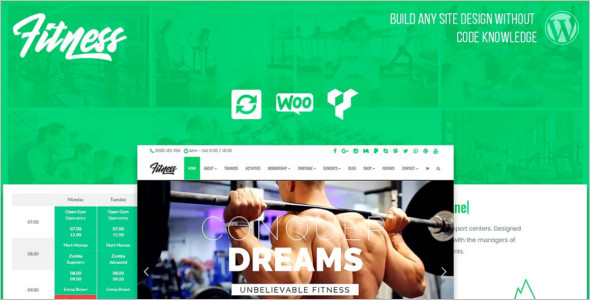 Fitness Health HTML5 Template
