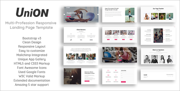 Fitness Marketing HTML5 Template