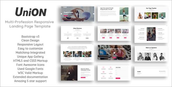 Fitness Marketing HTML5 Template