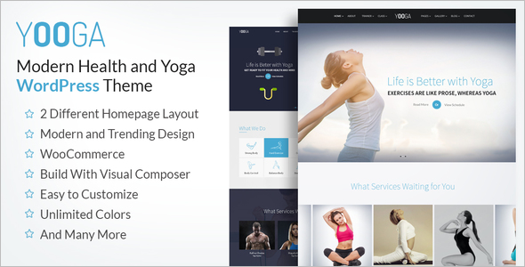 Fitness Website WordPress Theme
