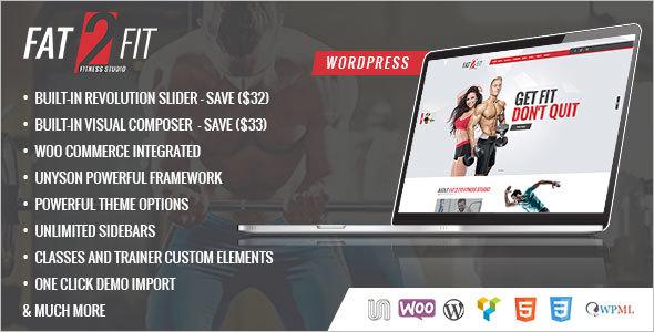 Fitness WordPress Blog Theme
