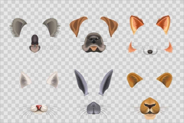 Flat Animal Face Design