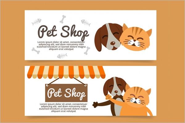 Flat Petcare Banner Design