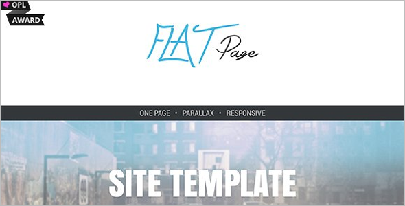 FlatPage One Page Responsive Theme