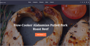 Food Recipe Blog WordPress Theme