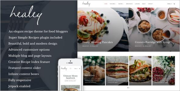 Food Recipe WordPress Theme