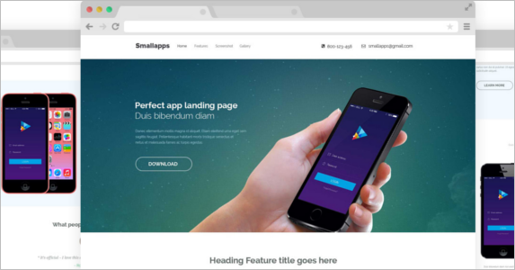 Free App Landing Page Theme