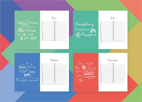 42 Birthday Calendar Templates Free Premium Designs